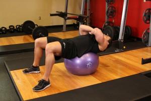 Fitness bal oefening - Positie 1