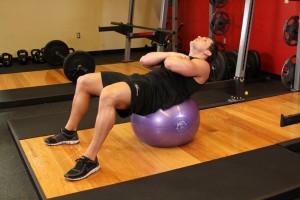 Fitness bal oefening - Positie 2
