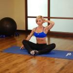 Stretchoefening - buikspieroefening - positie 1