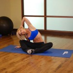 Stretchoefening - buikspieroefening - positie 2