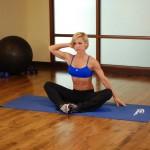 Stretchoefening - buikspieroefening - positie 3