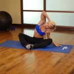 Stretchoefening - buikspieroefening - positie 4